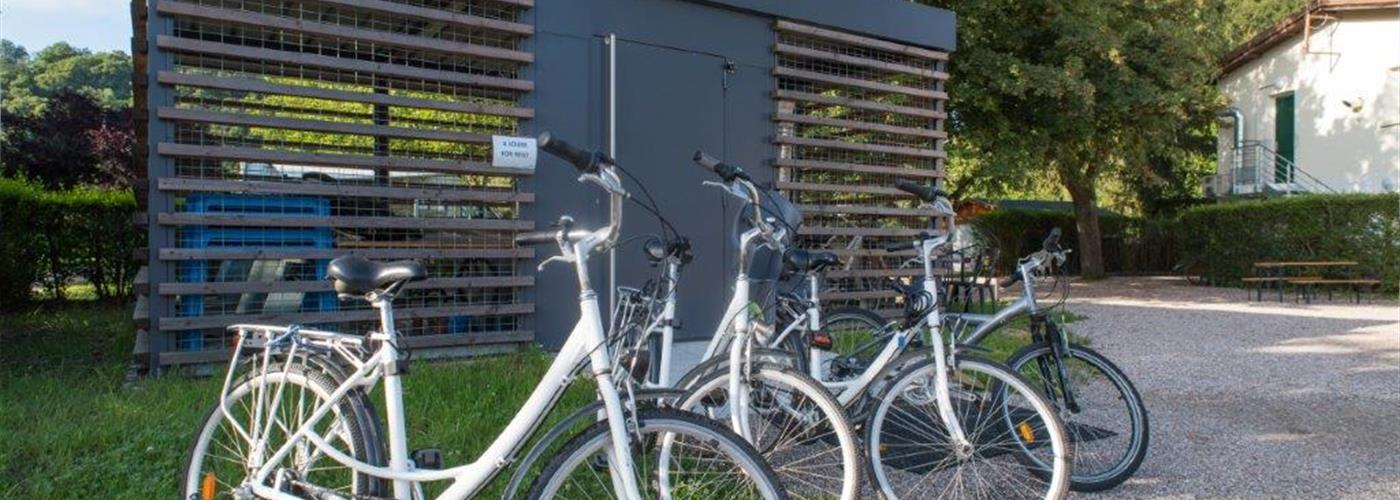 BICYCLE HIRE AT THE LES BOUCLES DE LA MOSELLE CAMPSITE