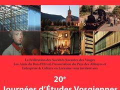 image - 20E JOURNÉES D ÉTUDES VOSGIENNES