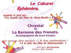 image - LE CABARET ÉPHÉMÈRE : CHRYSTAL ET LA BARONNE DES FRENOTS