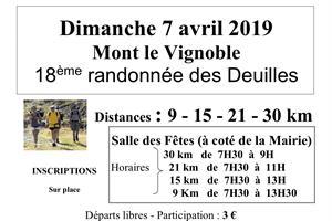 image - 18 ÈMÈ RANDONNÉES DES DEUILLES