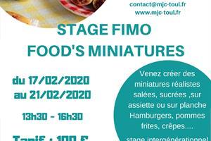image - STAGE FIMO FOOD'S MINIATURES