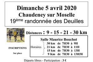 image - 19ÈME RANDONNÉE DES DEUILLES - ANNULE