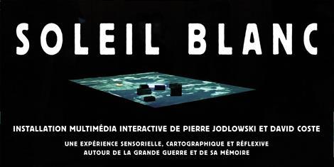 image - EXPOSITION | SOLEIL BLANC, INSTALLATION AUDIOVISUELLE INTERACTIVE DE PIERRE JODLOWSKI ET DAVID COSTE
