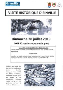 VISITE HISTORIQUE D'EINVILLE