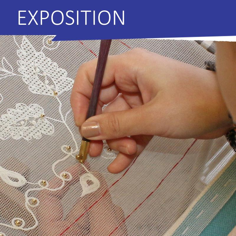 EXPOSITION BRODERIES SOUS OMBRELLE
