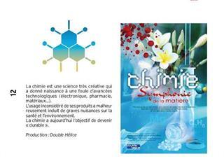 """EXPOSITION """"CHIMIE ET SYMPHONIE DE LA MATIÈRE"""""""