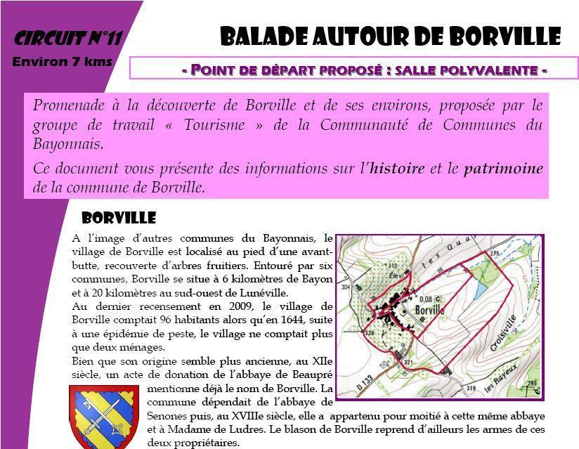 BALADE AUTOUR DE BORVILLE