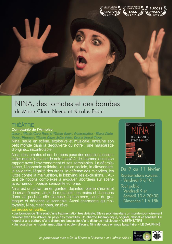 THÉÂTRE : NINA DES TOMATES ET DES BOMBES