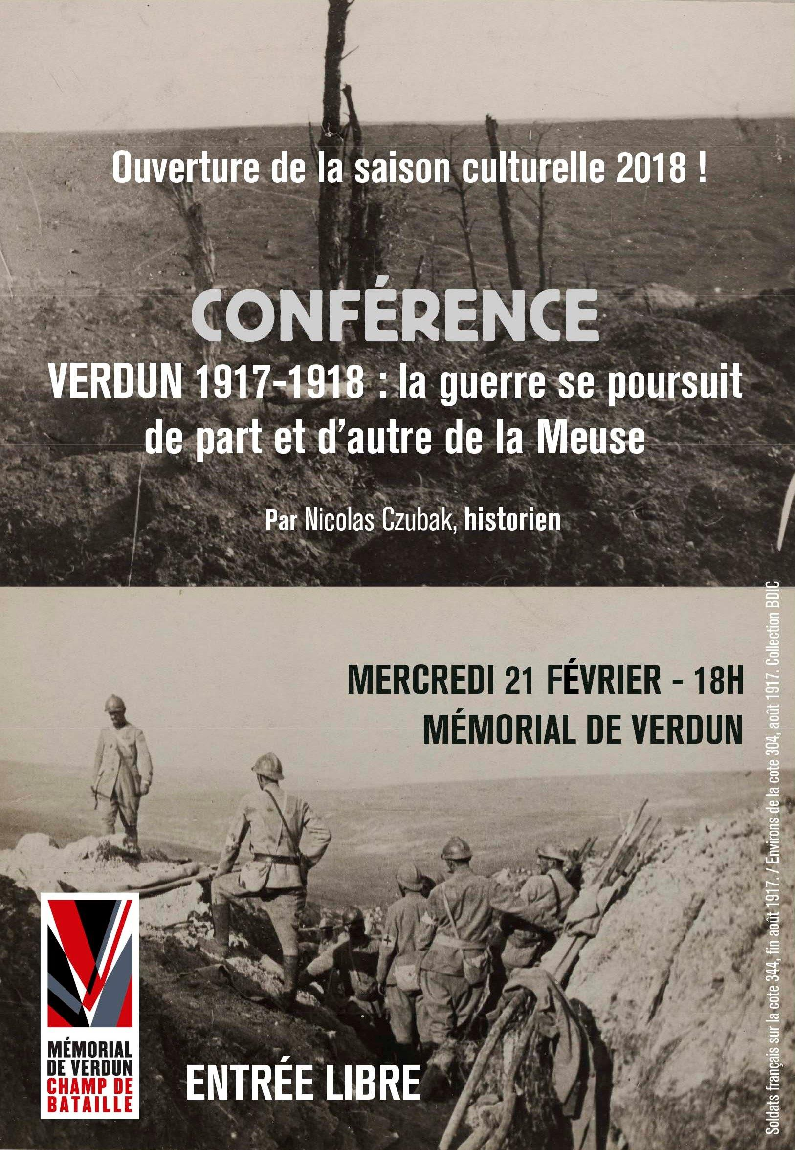 CONFÉRENCE | VERDUN 1917-1918 : LA GUERRE SE POURSUIT DE PART ET D'AUTRE DE LA MEUSE