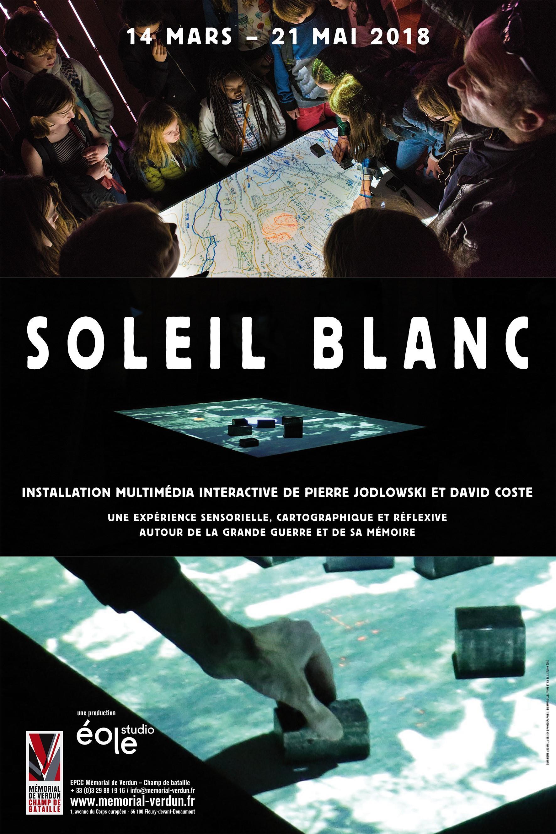 EXPOSITION | SOLEIL BLANC, INSTALLATION AUDIOVISUELLE INTERACTIVE DE PIERRE JODLOWSKI ET DAVID COSTE