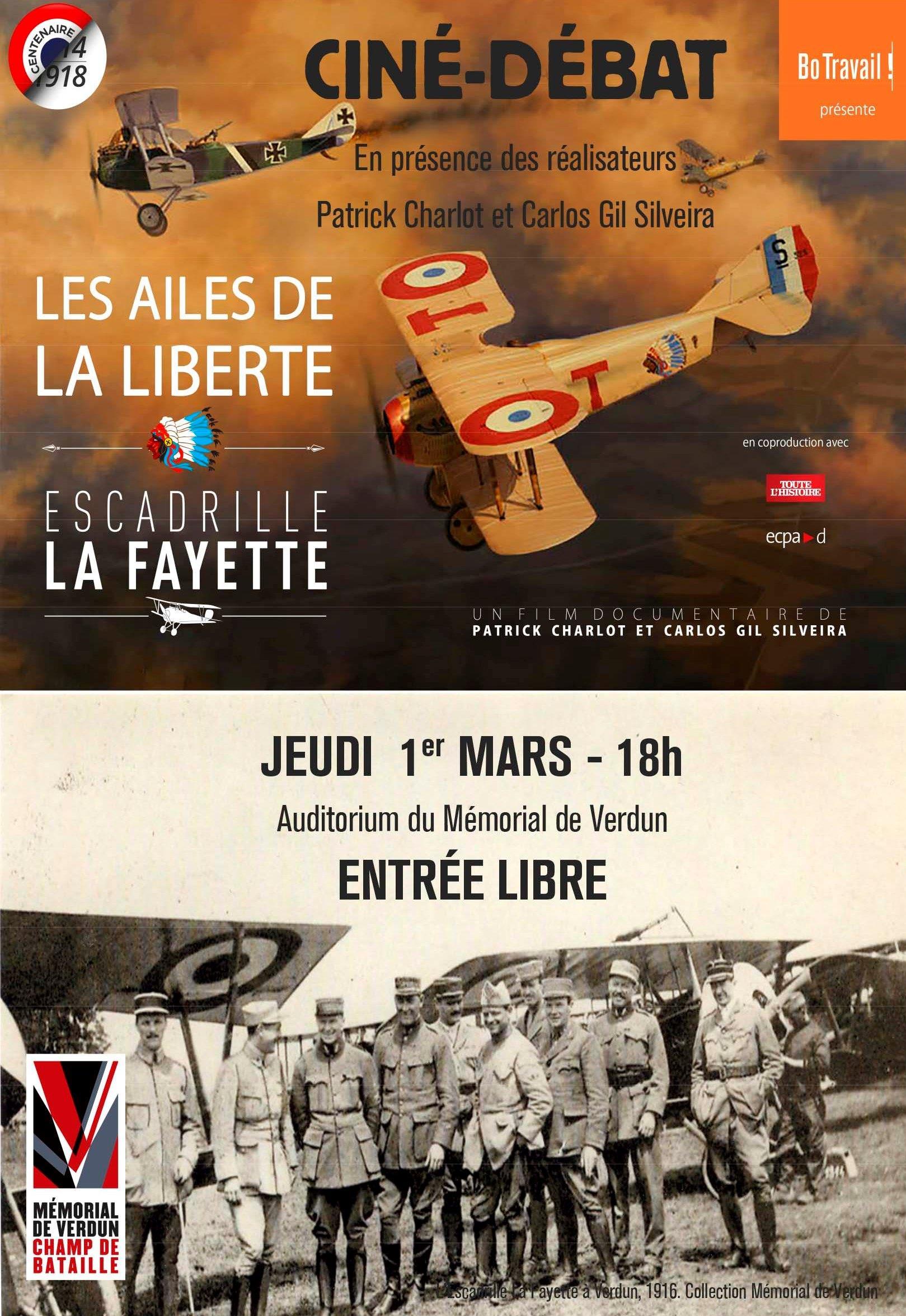 CINÉ-DÉBAT | LES AILES DE LA LIBERTÉ - ESCADRILLE LA FAYETTE (2016)