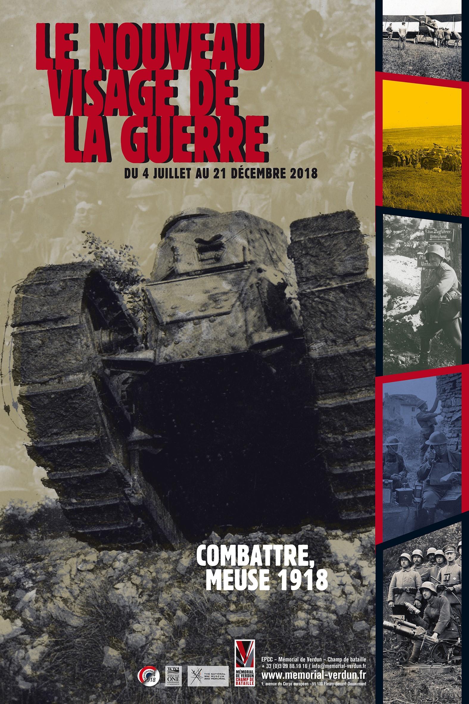 JOURNÉES EUROPÉENNES DU PATRIMOINE - VISITE GUIDÉE EXPOSITION TEMPORAIRE 'LE NOUVEAU VISAGE DE LA GUERRE. COMBATTRE MEUSE, 1918.