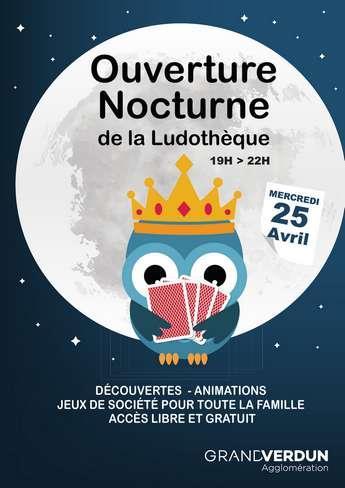 OUVERTURE NOCTURNE DE LA LUDOTHÈQUE