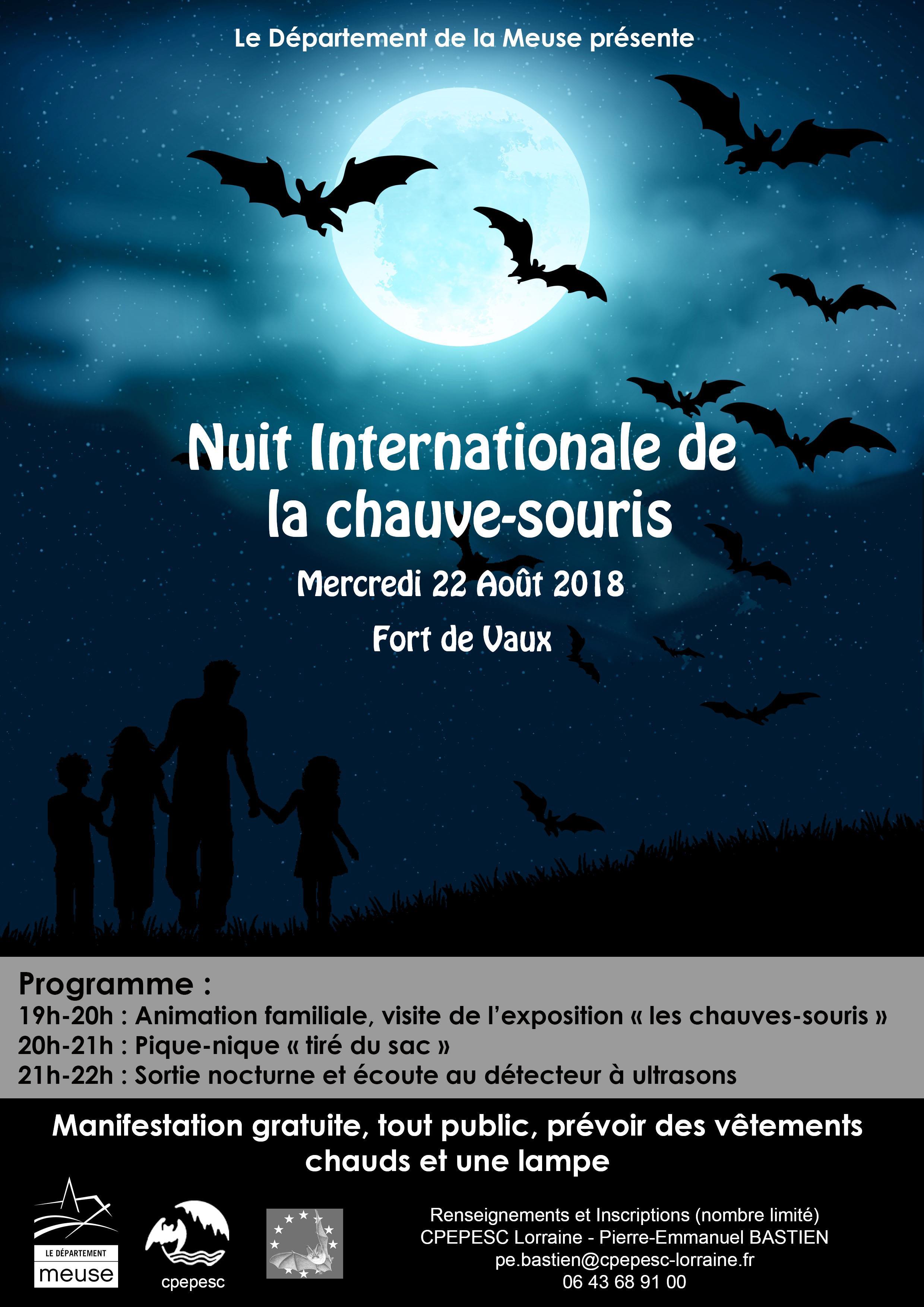 NUIT INTERNATIONALE DE LA CHAUVE-SOURIS : CHAUVES-SOURIS ET OUVRAGES MILITAIRES
