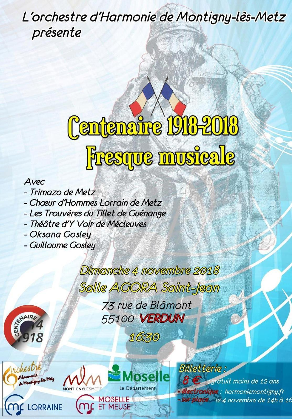 CENTENAIRE 1918-2018 FRESQUE MUSICALE
