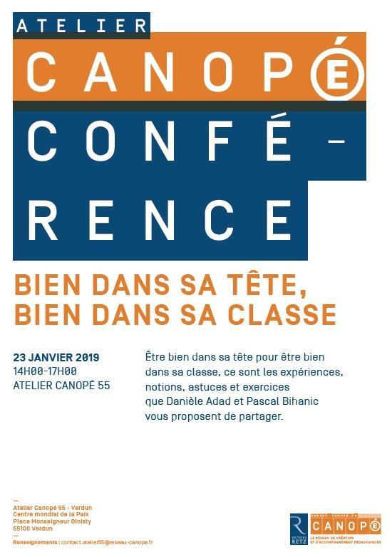 CONFÉRENCE | BIEN DANS SA TÊTE, BIEN DANS SA CLASSE