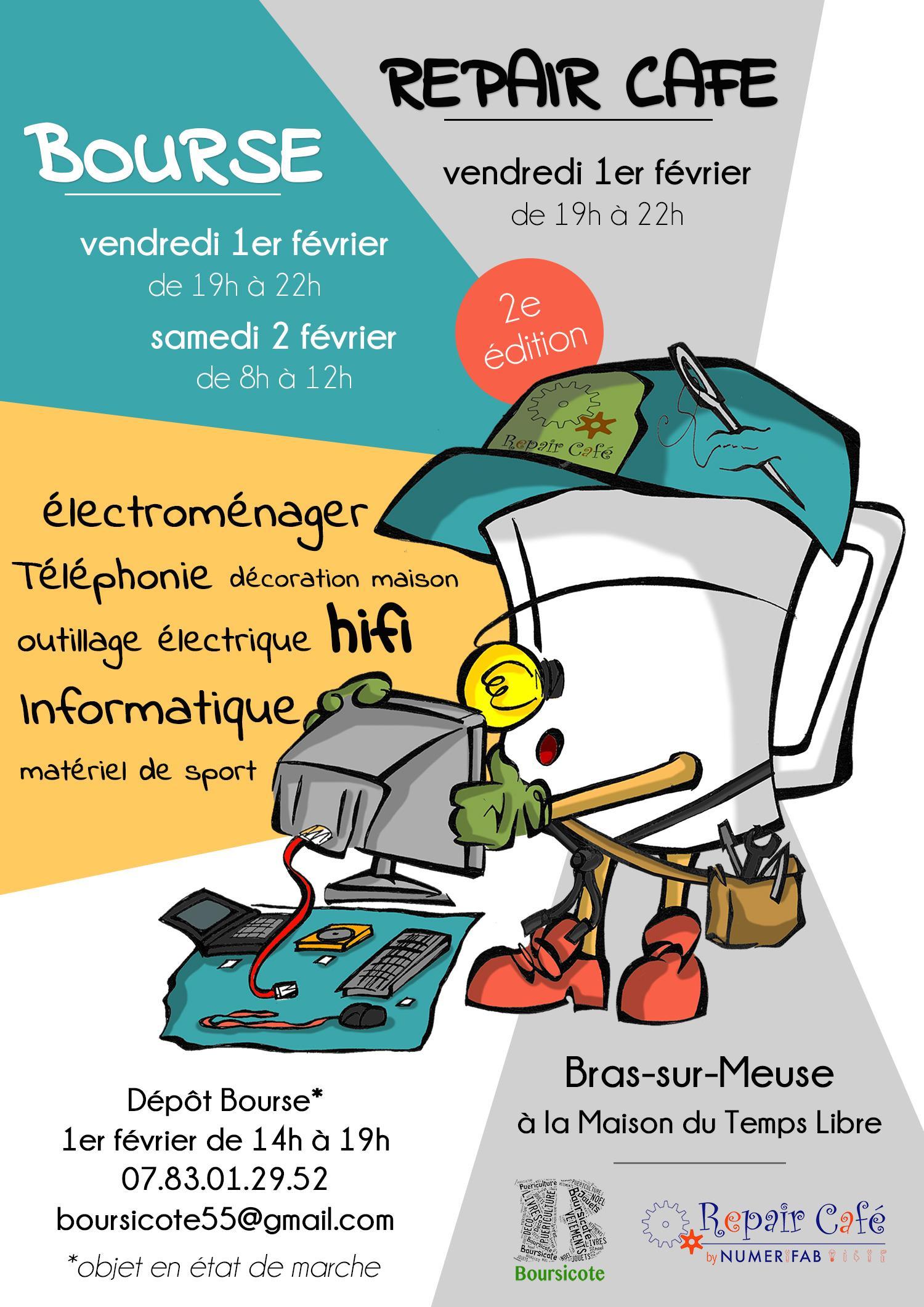 BOURSE ÉLECTROMÉNAGER... + REPAIR CAFÉ