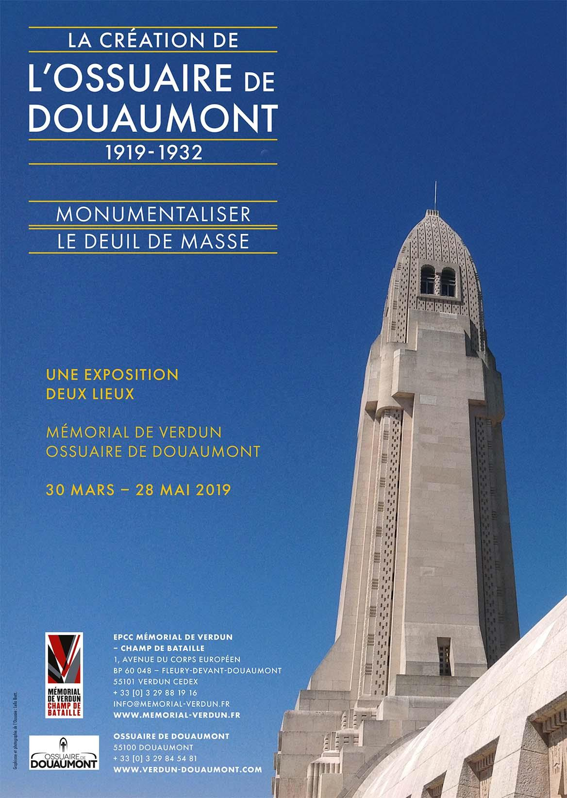 EXPOSITION   LA CRÉATION DE L'OSSUAIRE DE DOUAUMONT (1919-1932). MONUMENTALISER LE DEUIL DE MASSE