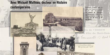 image - CONFÉRENCE | LE SOUVENIR DE LA PREMIÈRE GUERRE MONDIALE À TRAVERS LES MONUMENTS COMMÉMORATIFS : L'EXEMPLE DU SUD MEUSIEN