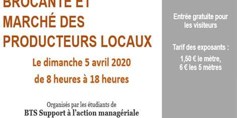 image - BROCANTE ET MARCHÉ DES PRODUCTEURS LOCAUX