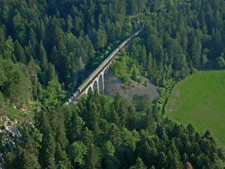 Les Viaducs aux environs de Morez sur la Ligne des Hirondelles